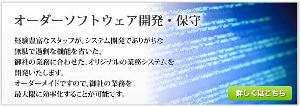 オーダーソフトウェア開発・保守